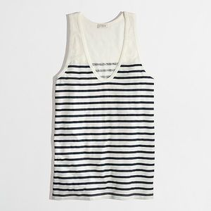 J. Crew Stripe Layering Tank in Ivory and Navy